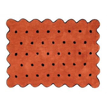Biscuit Terracota Cotton Rug