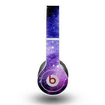 The Purple and Blue Scattered Stars Skin for the Beats by Dre Original Solo-Solo HD Headphones