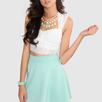 Sugar Twist Skater Skirt - Mint