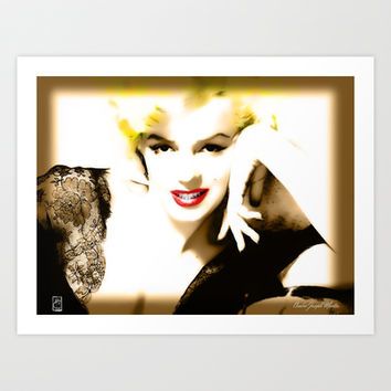 Portrait of  Marilyn Monroe Art Print by Andre Joseph Martin