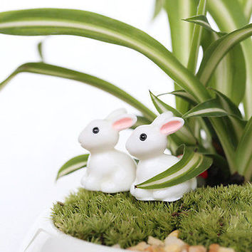 Rabbit Miniature Ornament Home Decor Fairy Garden Figurine Bonsai Statue 3C02