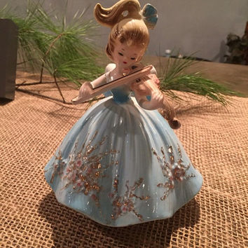 Figurine, Josef Original Figurine, Josef Original Music Box, Collectable Figurine, Vintage Figurine, Josef Original Violyn Player
