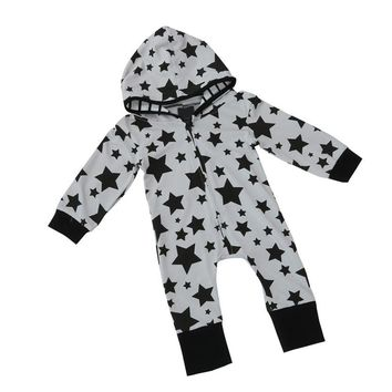 MUQGEW Baby Clothes Full sleeves Bodysuit Baby Star Printing Hooded Jumpsuit Funny Baby Clothes Body Outfits Sunsuit Menina Z06