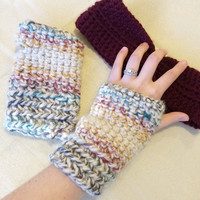 Aspen Fingerless Crochet Gloves / Crochet Gloves / Handmade Gloves / Chunky Gloves / Winter Gloves