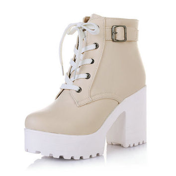 Adriana Lace Up Boots