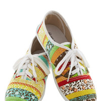 Let's Get Easygoing Sneaker in Multi | Mod Retro Vintage Flats | ModCloth.com