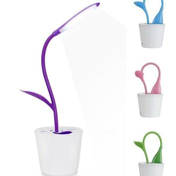 Flexible Plant USB Touch LED Desk Lamp