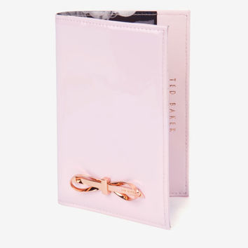 Patent passport holder - Baby Pink | Gifts for Her | Ted Baker ROW