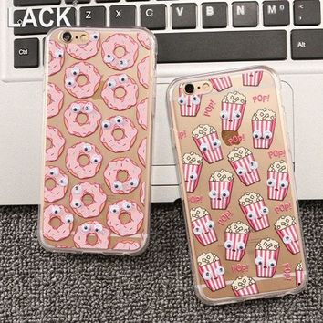 LMFUS4 Newest Fashion Cute Cartoon Movement Of Eyes Case For Apple iphone 6 Case Back Skin Protective Cover Phone Case For iphone6 4.7'
