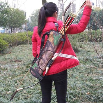 Target Hunting Archery Quiver Back Hip Waist BACK /SIDE QUIVER Arrow Bow Holder Pouch Camo Archery Hunting Bow ARROW Holder Bag