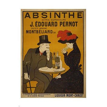 ABSINTHE extra-superieure liquor VINTAGE AD poster HOME DECOR 24X36 french