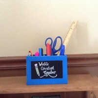 Teacher Appreciation Gift, End Of School Year Gift, Back To School Gift For Teachers, World's Greatest Teacher Desk Organizer, Pencil Holder