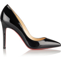 Christian Louboutin - Pigalle 100 patent-leather pumps