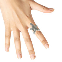 Adorn by LuLu - Starfish Wrap Ring - Silver