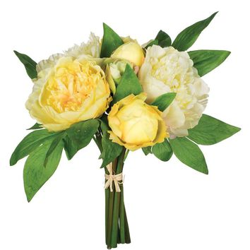 Artificial Flower Bouquet of Yellow Peonies