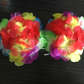 Package of 4 Lei-Style Hawaiian Hula Dancing Bra for Beach & Luau
