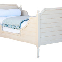 Antiqued Cream Beach House Bed, Twin, Panel Beds