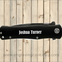 """4 1/2"""" Engraved Knife, Father's Day, Groomsmen,  Anniversary, Gift for Men"""