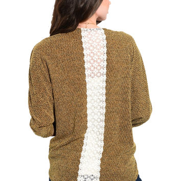 3/4 Sleeve Open Front Cocoon Knit Cardigan