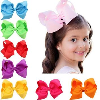 Naturalwell Oversize bow Clip Boutique Girl Ribbon Bows Clips Hairpin Kids Big Bowknot Clips Hairgrip Hair Accessories BB009