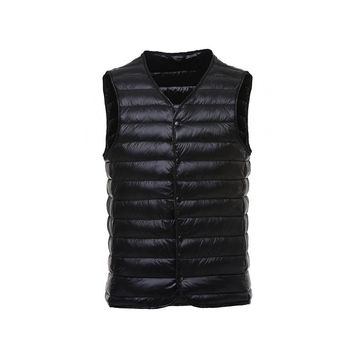 Men's Sleeveless Packable Jackets Winter Ultralight White Duck Down Vests Men Male Slim Warm Waistcoat Puffer Waistcoats VT-213