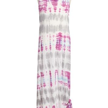 Girl's Young, Fabulous & Broke Knot Detail Maxi Dress,
