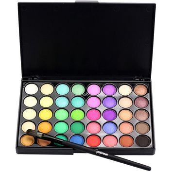11.12 40 Colors Long lasting Radiant Matte Eyeshadow Cream Makeup Palette Shimmer Cosmetic 1pcs Eye shadow Make up Brushes Set