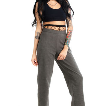 Vintage 90's So Extra Grey Matter Trousers - XS/S