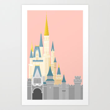 Cinderella Castle  Art Print by StevenCoward