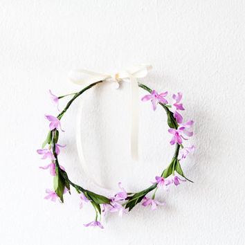 Floral Crown Flower Headband Lavender Lilac / Christmas / Holidays / Gift for Her