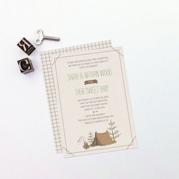 Printable Shower Invitation - Camp Etsy - Baby, Wedding, Party