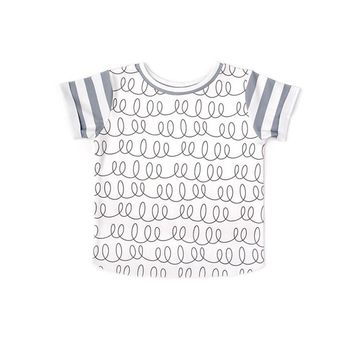 Bobo Choses Kids Summer T-shirt For Girls White Cute Tops Baby Dress T-shirt For Boys Tiny Cottons Baby Boys Causal Clothing