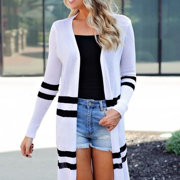 * Have It My Way Duster Cardigan : White