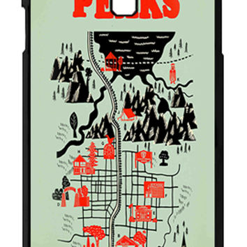 Twin Peaks Welcome To Twin Peaks Map Samsung Galaxy S4 Cases - Hard Plastic, Rubber Case
