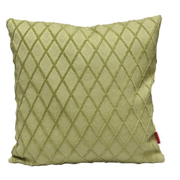 Decorative Velvet Pillow 18x18 cushion cover in seafoam green made from vintage upholstery fabrics by EllaOsix
