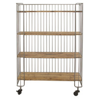 "65"" Tall Metal Rolling Shelf, Wall Shelving & Brackets"