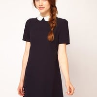Dahlia | Dahlia Flower Collar Shift Dress at ASOS