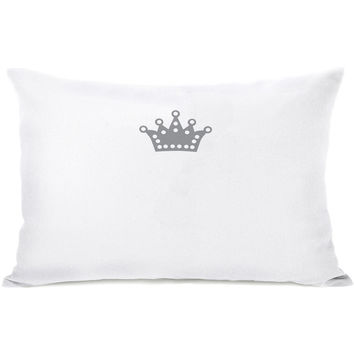 """Pugness Crown"" Indoor Throw Pillow by Rachael Hale, 14""x20"""