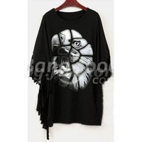 Fashion Bat-Wing Asym T-shirt Tops Blouse Black&White Free Shipping!  - US$10.39