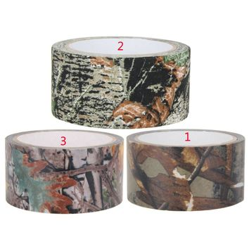 10m Waterproof Camo Duct Tape Gun Hunting Camping Camouflage Stealth Tape Wrap Prevent From Scratches Slippage On Rocks