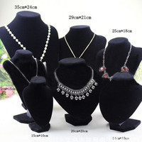 Shop Mannequin Bust Jewelry Necklace Pendant Earring Display Stand Holder 3CAU