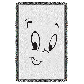 Casper The Friendly Ghost-Face - Woven Throw