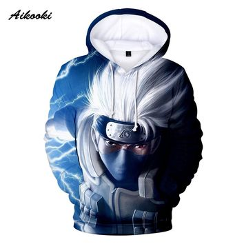 Aikooki 3D Naruto Hoodies Men/Women 3D Hoodie Sweatshirts Famous Anime Naruto Fashion Spring Autumn Hip Hop Hoodies Polluver