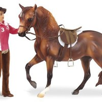 "Breyer ""Let's Go Riding"" English - Traditional Toy Horse Model with Rider (Colors May Vary)"