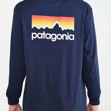 Patagonia Line Logo Long-Sleeve Tee - Urban Outfitters