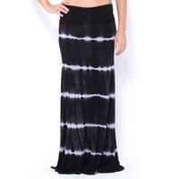 Stripe Tie-Dye Maxi Skirt - JUST ARRIVED