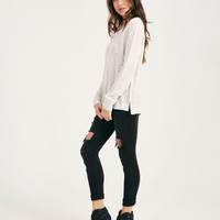 Waffle Stitch Pullover | Wet Seal
