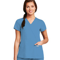 Grey's Anatomy Scrubs Junior Fit Women's 2-pocket Crossover Scrub Top 41101 Ceil