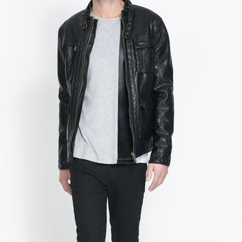 Men Black Biker leather jacket and quality pure leather, mens leather jacket,bomber leather jacket