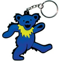 Grateful Dead Rubber Key Chain Blue